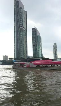 Bangkok CBD on a rainy mornig