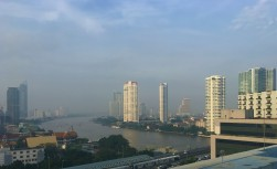Misty morning along the Chao Phraya, Bangkok