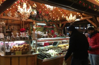 An array of traditional German pastries @ the Marienplatz Christmas Market in Munich