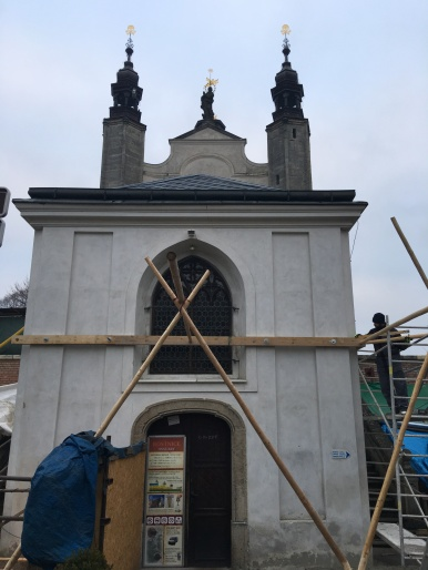Sedlec Catholic Church of All Saints under renovation