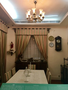 The dining area of a Taipa house